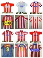 Retro 2004 2005 Atletico Madrid Futbol Formaları # 9 F.Torres 1994 1995 1996 1997 2013 10 11 14 15 Caminero Griezmann Gabi Ev Vintage Klasik Futbol Gömlek