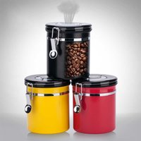 Storage Bottles & Jars Stainless Steel Coffee Bean Sealed Tank With Exhaust Valve Dried Fruit Box Tea Caddy