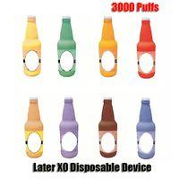 Original Later XO Disposable Pod Device E-cigarette Kit 3000 Puffs 1100mAh Battery 8ml Prefilled Cartridges RGB Light Vape Pen VS Puff Plus