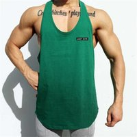 그냥 체육관 브랜드 의류 망 메쉬 피트니스 스트링거 탱크 탑 남성 보디 빌딩 조끼 실행 Vesr 운동 민소매 셔츠 210623