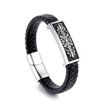 Fashion CH crosin Heartschrome Chaozhou ch croxin cross hand brand cowhide rope Braided accessories lovers Bracelet men and women personality design for HIPHOP