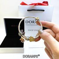 Doranps Brand Jewelry 925 Original Beads Charms Braccialetti per le donne Braccialetto di fascino Braccialetto serpente Jeweldry Jewelries Gifts Braclets