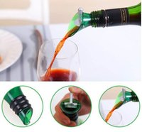 Bar Tools 500pcs White Red Wine Aerator Plug Cap Bottle Pourer Pour with Silicone Stopper Funnel Shutoff Green Color SN5858