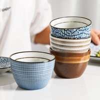 Cups & Saucers Retro Tea Cup 150ml Vintage Style Handmade Glaze High Temperature Firing Ceramic Water Coffee Porcelain Bowl