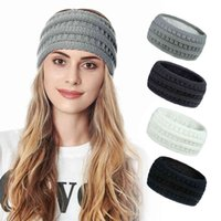 Winter Wool Hair Band Women's New Knitted Ear Protection for Warmth and Plush Headcover 20 Color Accessories