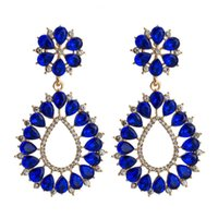 Adolph Crystal Flower Drop Earring For Woman Extendy Korean Dangle Earrings Jewelry Statement Accessories Brincos & Chandelier