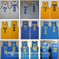 UCLA Bruins College Basketball Russell Westbrook Lonzo Ball Zach Lavine Reggie Miller Bill Walton Kevin Liebe Blaues Trikot