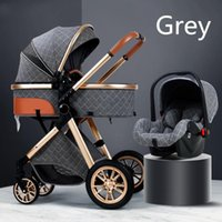 Strollers# Multifunctional Baby Stroller 3 In 1 With Car Seat Born Foldable Carriage High Landscape Infant Trolley