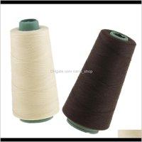 Strumenti 2 Rotoli BEIGE / Brown Dark Brown Tessitura Bobina filo per la parrucca che producono le estensioni dei capelli di trama trecce BGFCT WFCS0