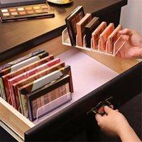 Storage Boxes & Bins Eyeshadow Palette Organizer Powder Cake Box Makeup Tools Holder Compartment Desktop Seven-compartment