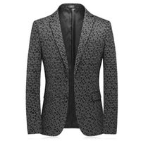 Men's new Korean style suits, fashion trends, handsome prints, slim suits, young men's stretch single western dresses