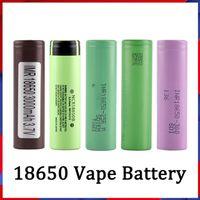 Wholesale 18650 Batterie HG2 30Q VTC6 3000MAH NCR 3400MAH 25R 2500MAH E CIG MOD Cellule de li-ion rechargeable