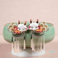 Traditional Chinese hairpin, 2 pieces, retro comb, bridal hair accessories, long tassel wedding headdress, 2021