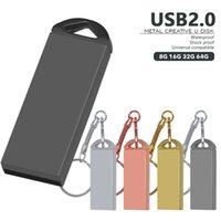 Key Chain USB 2.0 Flash Drives Metal Pen Drive 64GB 32GB 16GB 8GB 4GB Pendrive Waterproof Memory Stick For gift