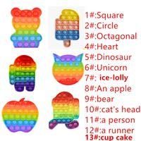 rainbow الملونة الضغط البوب لعب فقاعة الحسية لعبة التوحد القلق الإجهاد المخلص للطلاب العمال مكتب