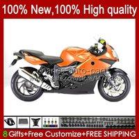 Carrosserie de moto pour BMW K 1200 K1200 S 1200S 2005 2006 2007 2008 2008 2009 2010 Body 28NO.92 K1200-S K-1200S 05-10 K1200S 05 06 07 08 09 10 NOUVEAU Catériel Orange + Couvercle de réservoir