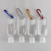 50ml Transparent keychain Hand Sanitizer Bottle Plastic Hand Sanitizer DIY Portable Bottle Key Chain Pendant BT449