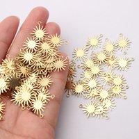 40 teile / los Handmade Sun Blume Anhänger Charms Halskette Ohrringe Schmuck Fundungen Herstellung von Lieferungen DIY Messing Zubehör