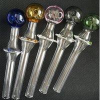 담배 튜브 공예 Pyrex 유리 오일 버너 파이프 미니 흡연 핸드 파이프 다채로운 3 점