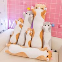 50CM Soft Cute Plush Long cat pillow Cotton doll toy lunch Sleeping Pillow Christmas gifts birthday gifts girls WHT0228