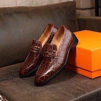 DiseñadoresLouboutinClcristianoLujos Nuevos Mocasines para hombre Zapatos Fondos rojos Black Brown Patent Patent Fashion Loafer Dr YUF