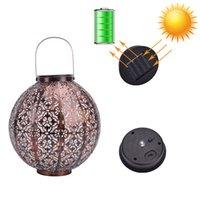 야외 태양 랜턴 정원 교수형 초 롱 솔리드 조명 방수 LED 테이블 램프 장식 나비와 장식 안뜰, 갑판, 마당, 정원, 또는 현관 손잡이