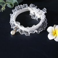 Cat Collar Cats Products For Pets Pet Bell Black And White Lace Wedding Dress Princess Style Dog Supplies Collars & Leads