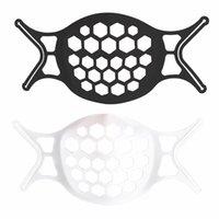 흰색 검은 3D 마스크 홀더 브래킷 보호 마스크 호흡을 향상시키기위한 지원 마스크 홀더 액세서리 GGA4648