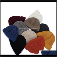Beanie Skull Caps Hats, Scarves & Gloves Fashion Aessoriesshort Dome Knitted Hat Solid Color Student Autumn Winter Woolen Hats Melon Skin Sa