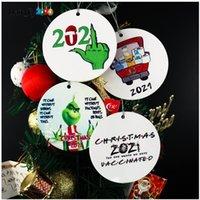 2021 Grinch Quarantäne Favor Weihnachten Ornament Weihnachten Hängende Ornamente Personifizieren Für Baumdekor Tragen Maske Designer HS14