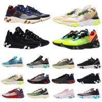 Reaksiyon Görme Erkekler Kadınlar Eleman 87 55 Tenis Açık Koşu Ayakkabıları Erkek Zirvesi Beyaz Şematik Siyah Yanardöner Orewood Gerçek Spor Szu65 #