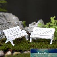3 pezzi carino mini fata bambola sedie da bambola bianca panca terrarium muschio decorazione figurine giardino miniatures micro paesaggio accessori