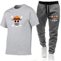Track2021 Pantalon et t-shirt à manches courtes occasionnelles d'été