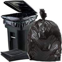 50 جهاز كمبيوتر شخصى / مجموعة حقيبة القمامة سعة كبيرة الثقيلة 15 جالون كبير ياردة القمامة التجارية السوداء السوق 210728