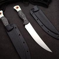 Özel Teklif 15500-1 Survival Düz Avcılık Bıçağı S45VN Saten Blade Tam Tang G10 Kolu Kydex ile Sabit Bıçaklar Bıçaklar