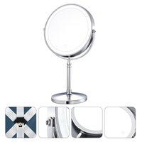 충전식 10 배 돋보기 메이크업 미러 LED 라이트 욕실 탁상용 컴팩트 거울