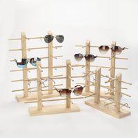 Multi Layer Holz Sonnenbrille Display Rack Regal Brillen Show Stand Schmuckhalter für Multi Pairs Gläser Showcase Dropshipping 57 W2
