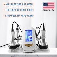 3 em 1 máquina de emagrecimento de cavitação ultrassônica queima massageador 40k jateamento RF Multipolar Instrumment Fat Reduzir Equipamentos de beleza