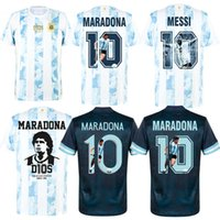 2021 Argentine Maradona 10 Away Messi 10 Spécial Soccer Jerseys 2020 Inc Free D10S Transfert Retro Gallery Style Impression Home Infinity Tribute Shirt
