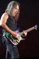 Metallic Kirk Hammett KH 2 Dracula Electric Guitar Bat & Cross Inlay, Floyd Rose Tremolo Bridge, Extra Thin Flat Neck Contour, Active Pickups, 9V Battery Box, Gotoh Tuners