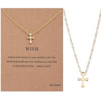 cross Clavicle Chain Personality Joker Blessing Card Necklace
