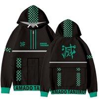 Luckyfridayf Anime Demon Demon Slayer Kimetsu No Yaiba 3D Sweats à capuche Sweatshirt Hommes / Femmes Streetwear Fashion Pullovers Vêtements 210818