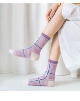 Cartoon Cute Butterfly Print Woman Socks Japanese Style Harajuku Retro Vintage Streetwear Long Sock for New Year Christmas Sock