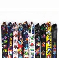 Cordino di moda tra la stampa del gioco del telefono cellulare portachiavi del pendente dei bambini dei cordini del fumetto del cavo del fumetto Corda antimata della corda della carta