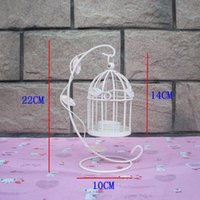 Romantic European Wedding Bird Cage Wrought Iron Candlestick Lantern Lamp Decor For Dinner Home Candle Holders