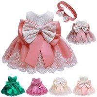 Girl's Dresses Baby Girls White Baptism Dress Born Princess Birthday Wear Toddler Flower Christening Ball Gown Kids For