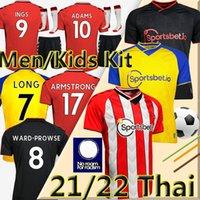 Southampton FC Camisa de futebol 2021 Danny INGS Soccer Jerseys WARD-Prowse 20/21 Hojbjerg Long Adams Homens crianças kits Redmond Uniforms Camisas de futebol