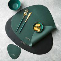 Isolamento termico in pelle PU Isolamento antiscivolo Semplice Placooms Placellari per tavoli da pranzo Tableware Pad Placemat Table Tappetino