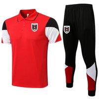 2021 2022 Avusturya Futbol Polo Gömlek Setleri Erkek Eşofman Futbol Eğitim Takım Survetement Spor Yetişkin Kısa Kollu Polos ve Pantolon Kitleri