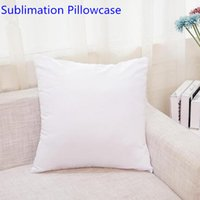 DHL 50Pcs Blank Sublimation Pillowcase Cover Heat Transfer Pillow Case Covers Pillows Cushion 40X40CM without insert polyester Advertising Souvenir gifts